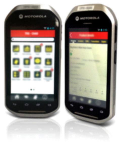 Motorola MC40 in-store Android mobile app
